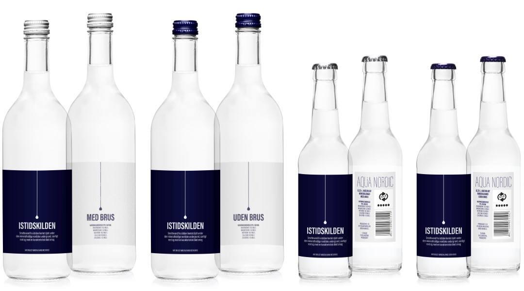 kildevand flasker samlet